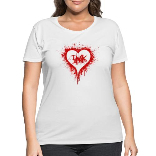 I Love Ink_red - Women's Curvy T-Shirt