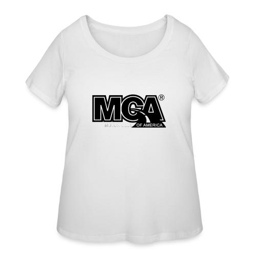 MCA Logo WBG Transparent BLACK TITLEfw fw png - Women's Curvy T-Shirt