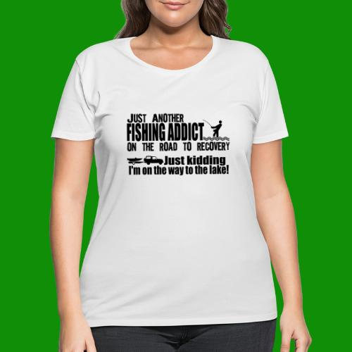 FISHING ADDICT - Women's Curvy T-Shirt