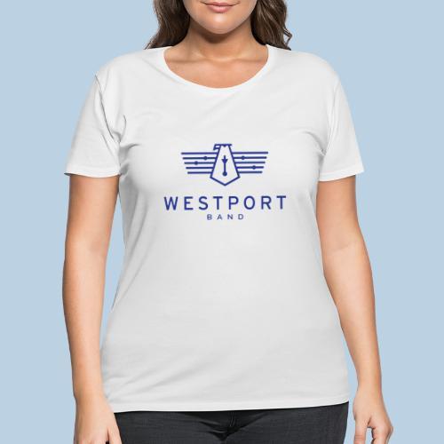 Westport Band Blue on transparent - Women's Curvy T-Shirt