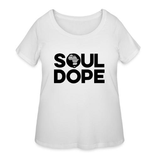 souldope Black Logo - Women's Curvy T-Shirt