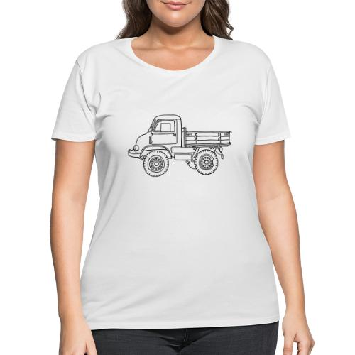Off-road truck, transporter - Women's Curvy T-Shirt