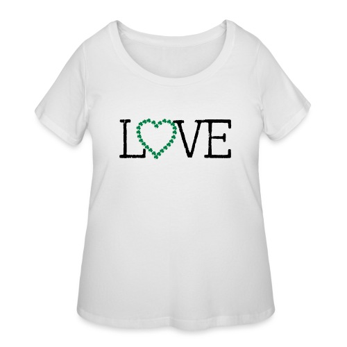 LOVE irish shamrocks - Women's Curvy T-Shirt