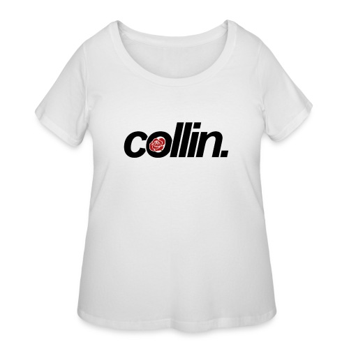 Collin. (Black w/ Rose) - Women's Curvy T-Shirt