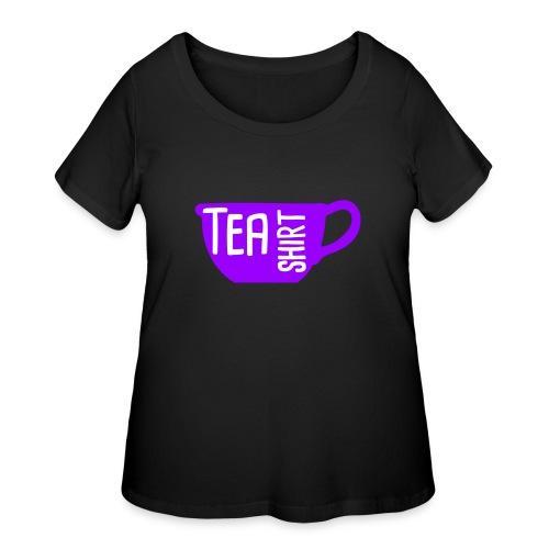 Tea Shirt Purple Power of Tea - Women's Curvy T-Shirt