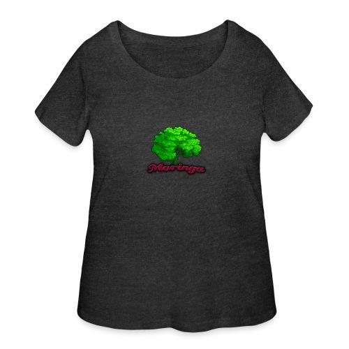 Moringa Logo Samsung S6 Case - Women's Curvy T-Shirt
