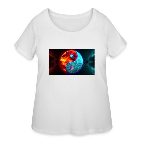 YIN N YANG - Women's Curvy T-Shirt