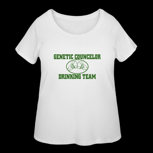 genetic counselor drinking team - Women's Curvy T-Shirt