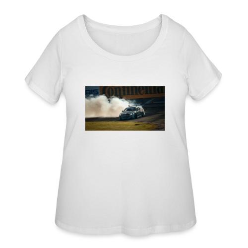 nissan skyline gtr drift r34 96268 1280x720 - Women's Curvy T-Shirt