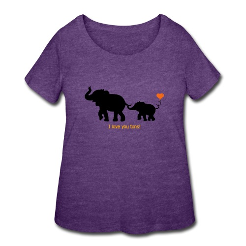 I Love You Tons! - Women's Curvy T-Shirt