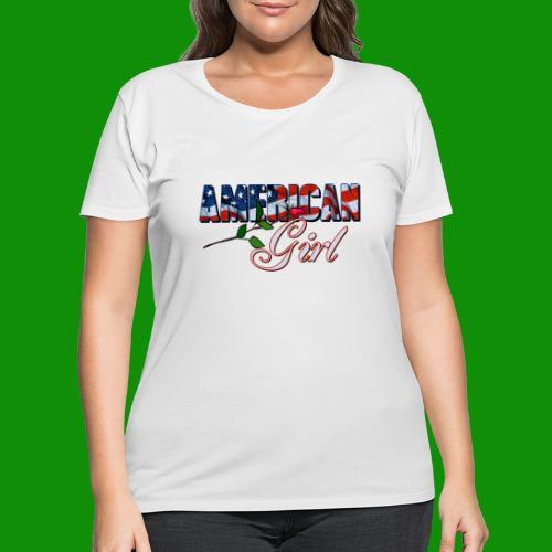 AMERICAN GIRL - Women's Curvy T-Shirt