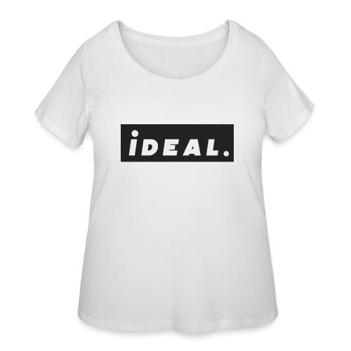 black ideal classic logo - Women's Curvy T-Shirt