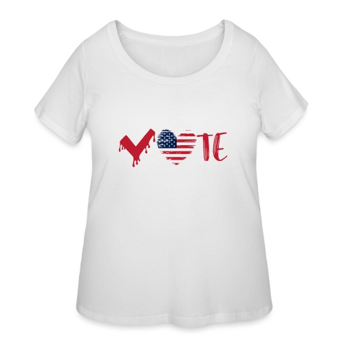 vote heart red - Women's Curvy T-Shirt