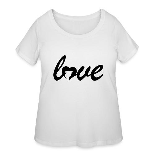 Dog Love - Women's Curvy T-Shirt