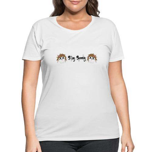 Stay Spooky with Skulls - Women's Curvy T-Shirt