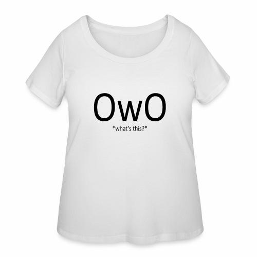 OwO *What's this* - Women's Curvy T-Shirt