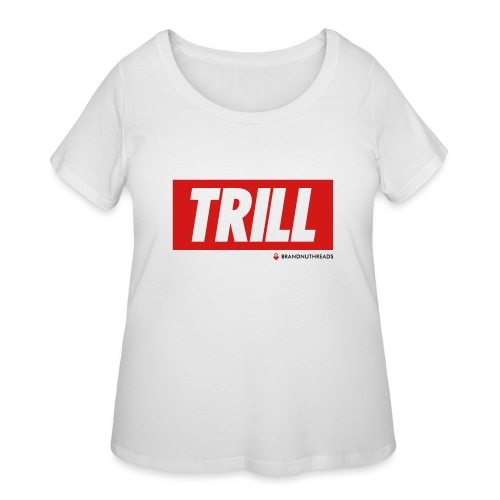 trill red iphone - Women's Curvy T-Shirt