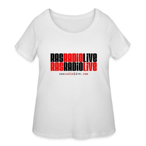 rasradiolive png - Women's Curvy T-Shirt
