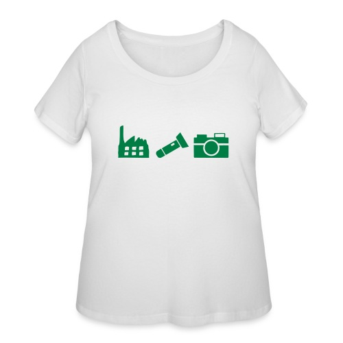 DCUE_Icons_Small - Women's Curvy T-Shirt