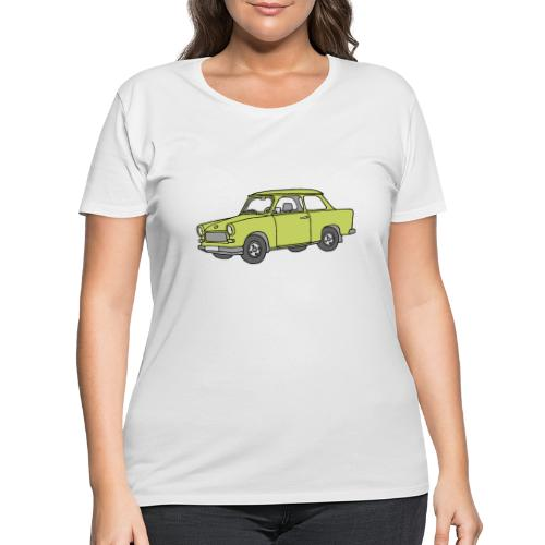 Trabant (baligreen car) - Women's Curvy T-Shirt