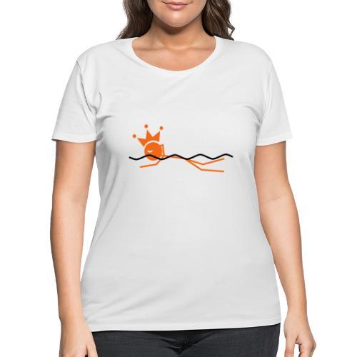 Winky Swimming King - Women's Curvy T-Shirt