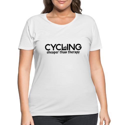Cycling Cheaper Therapy - Women's Curvy T-Shirt