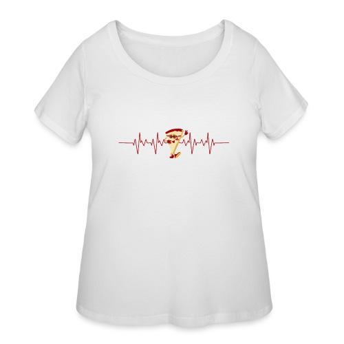 Pizza Lover - Women's Curvy T-Shirt