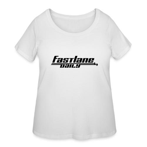 Fast Lane Daily logo - Women's Curvy T-Shirt