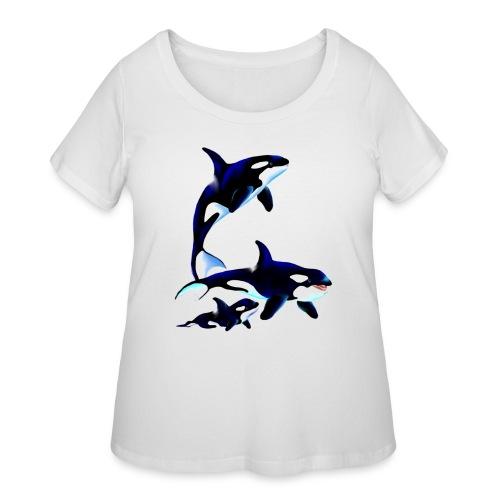 Killer Whale Family - Women's Curvy T-Shirt