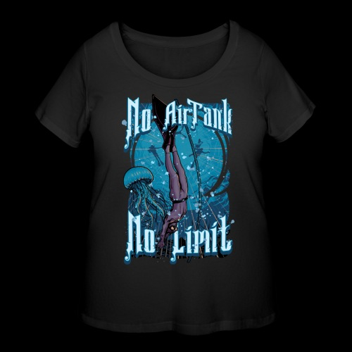 No Air Tank No Limit Freediving merchandise - Women's Curvy T-Shirt