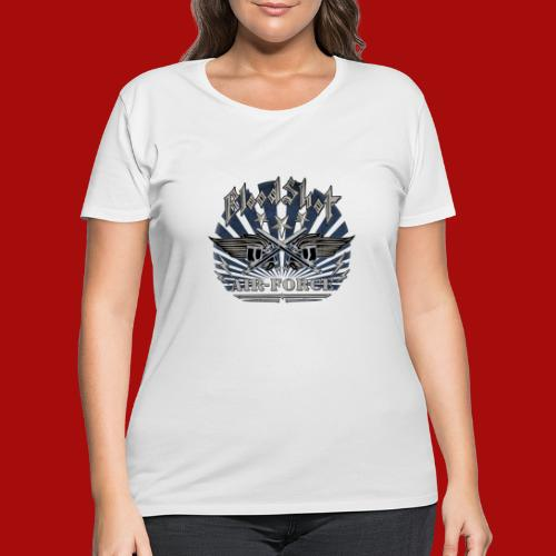 BloodShot Air Force with black - Women's Curvy T-Shirt