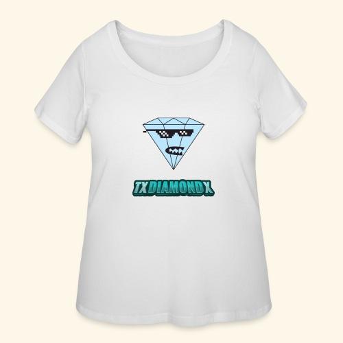 Txdiamondx Diamond Guy Logo - Women's Curvy T-Shirt