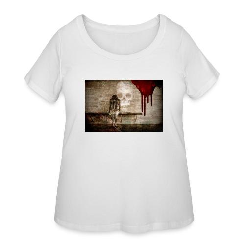 sad girl - Women's Curvy T-Shirt