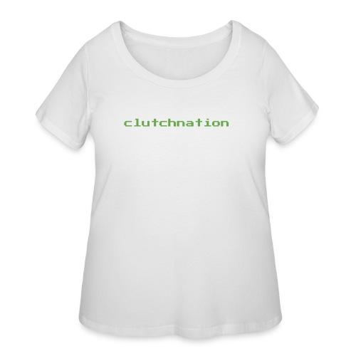clutchnation green merch videogame - Women's Curvy T-Shirt