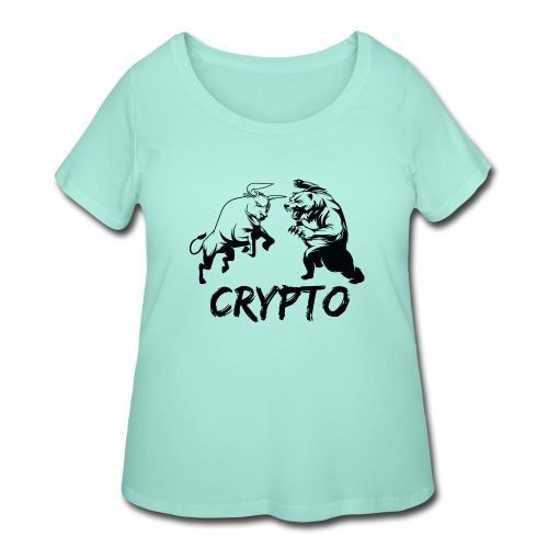 CryptoBattle Black - Women's Curvy T-Shirt