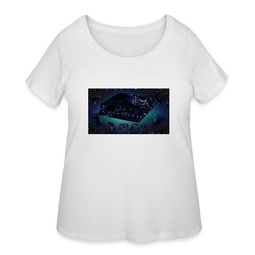 ps4 back grownd - Women's Curvy T-Shirt