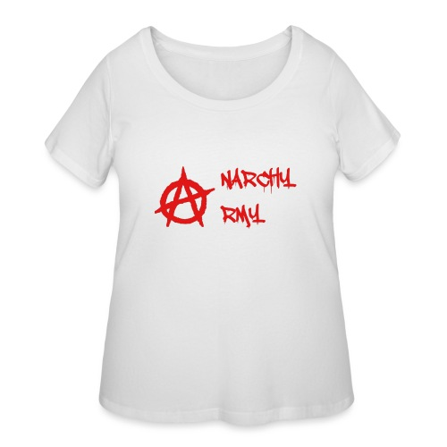 Anarchy Army LOGO - Women's Curvy T-Shirt