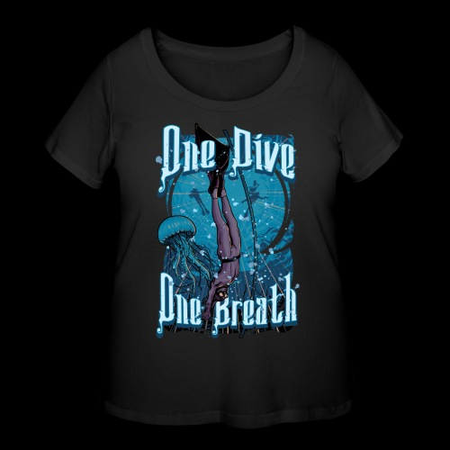 One Dive One Breath Freediving - Women's Curvy T-Shirt