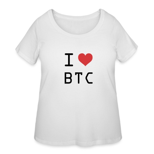 I HEART BTC (Bitcoin) - Women's Curvy T-Shirt