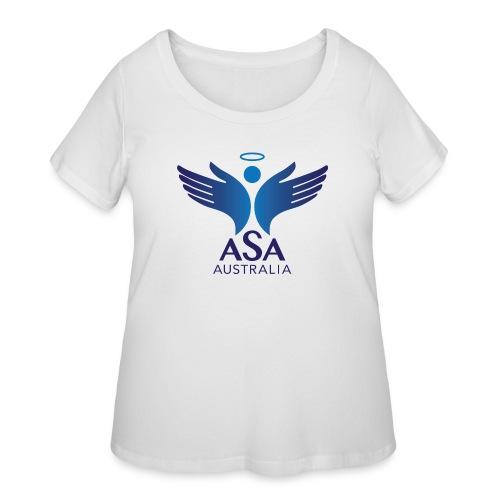 3459 Angelman Logo AUSTRALIA FA CMYK - Women's Curvy T-Shirt