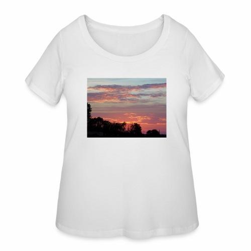 Sunset of Pastels - Women's Curvy T-Shirt