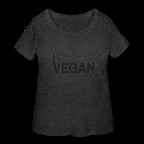 Blk. Vegan - Women's Curvy T-Shirt