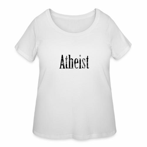 Faded Atheist - Women's Curvy T-Shirt