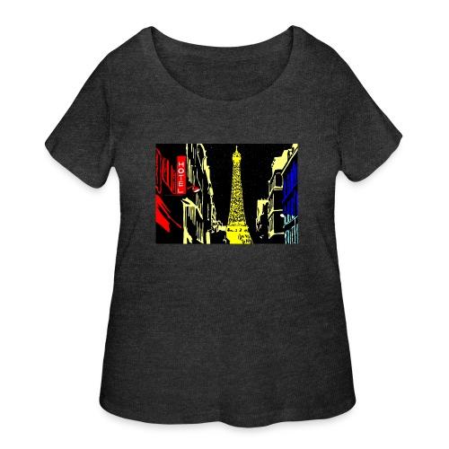 PARIS - Women's Curvy T-Shirt
