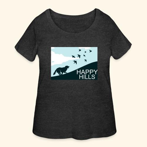 Happy hills - Women's Curvy T-Shirt