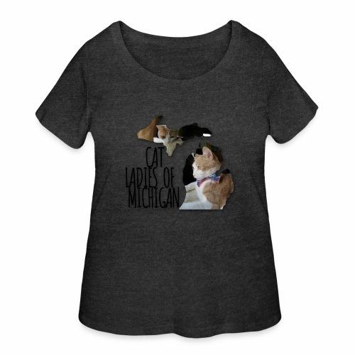 Cat Ladies of Michigan - Women's Curvy T-Shirt