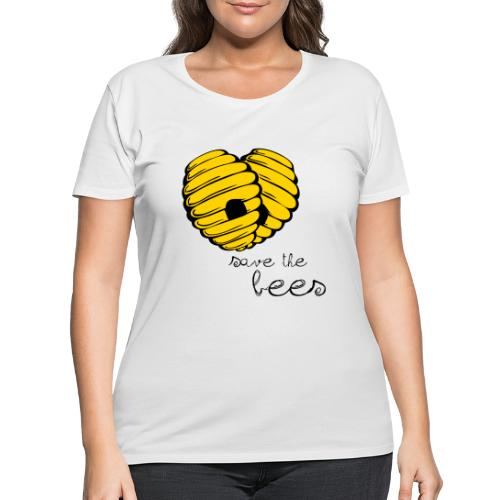 Save the Bees - Women's Curvy T-Shirt