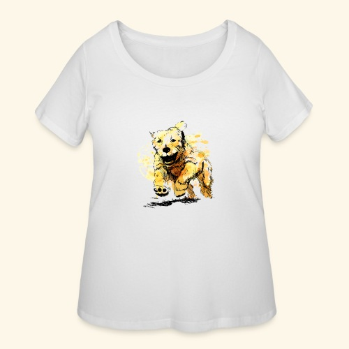 oil dog - Women's Curvy T-Shirt
