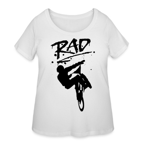 RAD BMX Bike Graffiti 80s Movie Radical Shirts - Women's Curvy T-Shirt