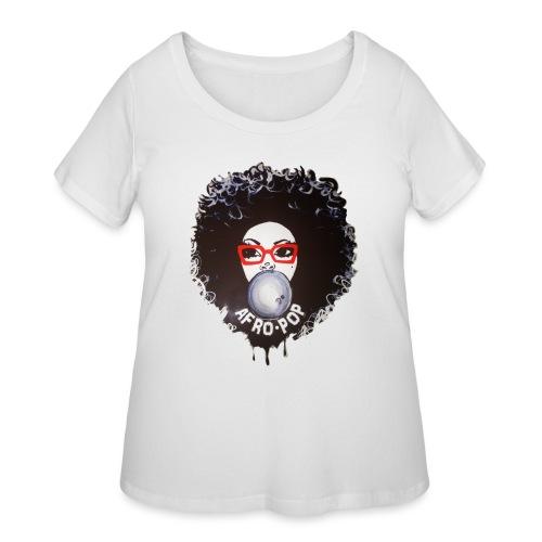 Afro pop_ - Women's Curvy T-Shirt